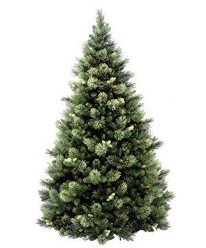 National Tree 75 Foot Carolina Pine Tree With Flocked Cones And 750 Clear Lights Hinged CAP3 306 75 0 1 300x360