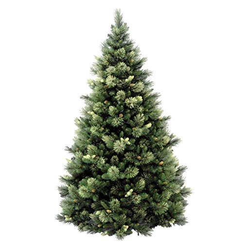 National Tree 75 Foot Carolina Pine Tree With Flocked Cones And 750 Clear Lights Hinged CAP3 306 75 0 1