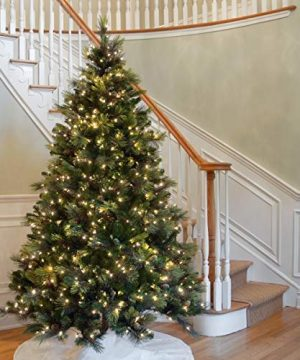 National Tree 75 Foot Carolina Pine Tree With Flocked Cones And 750 Clear Lights Hinged CAP3 306 75 0 3 300x360