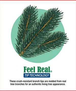 National Tree 75 Foot Carolina Pine Tree With Flocked Cones And 750 Clear Lights Hinged CAP3 306 75 0 4 300x360