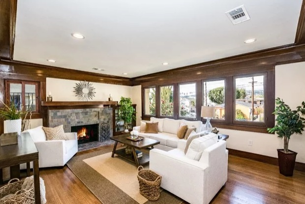 North Hollywood Craftman style home by AV Home Staging Services