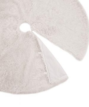 OLYPHAN Christmas Tree Skirt Large Snow White Luxury Faux Fur 48 Inches 4ft 36 Inch 3 Ft 30 Inch Round For Under Xmas Tree Decorations 36 Inches 3ft 0 1 300x360