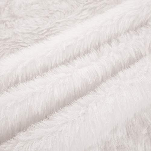 OLYPHAN Christmas Tree Skirt Large Snow White Luxury Faux Fur 48 Inches 4ft 36 Inch 3 Ft 30 Inch Round For Under Xmas Tree Decorations 36 Inches 3ft 0 2