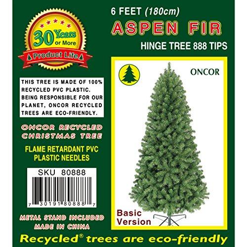 Oncor 6ft Eco Friendly Aspen Fir Christmas Tree 0 0