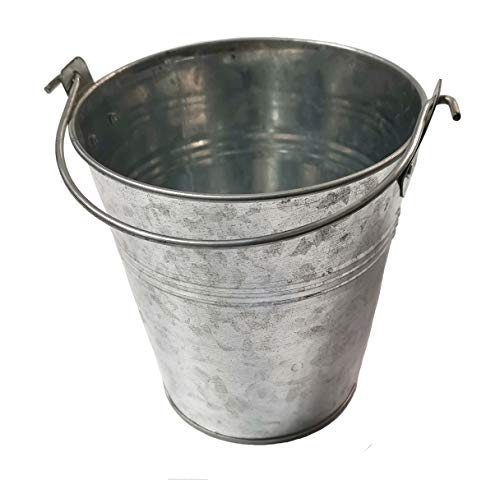 Outspark Metal Bucket For Traeger Wood Pellet BBQ Grills Metal Pail With Handle 0