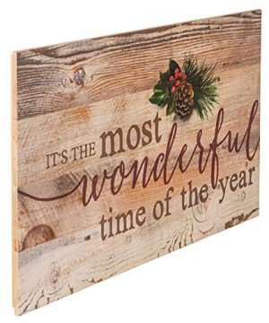 P Graham Dunn Its The Most Wonderful Time Of Year Christmas Holly 14 X 24 Wood Pallet Wall Art Sign Plaque 0 1 300x360