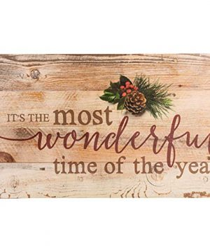 P Graham Dunn Its The Most Wonderful Time Of Year Christmas Holly 14 X 24 Wood Pallet Wall Art Sign Plaque 0 300x360