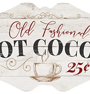P Graham Dunn Old Fashioned Hot Cocoa Whitewash 18 X 11 Wood Christmas Wall Plaque Sign 0 300x310