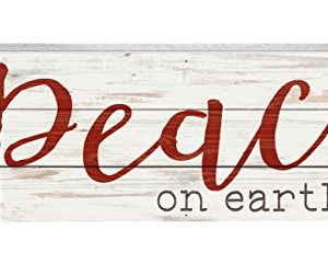 P-Graham-Dunn-Peace-On-Earth-Whitewash-12-x-45-Wood-Christmas-Tabletop-Boxed-Pallet-Sign-0
