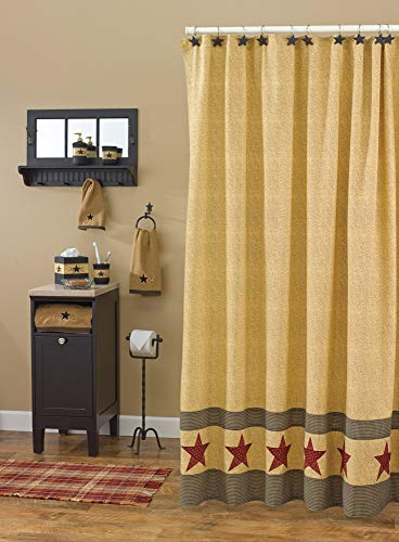 Park Designs Country Star Shower Curtain 72 By 72 0