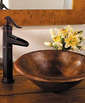 Pfister LFM40YP0Y Ashfield Single Control Vessel Bathroom Faucet In Tuscan Bronze Water Efficient Model 0 0 300x360