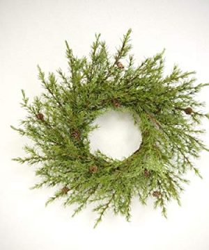 Pine Christmas Wreaths With Mini Pinecones BUYERS CHOICE 20 Inch Undecorated Wreath 0 300x360