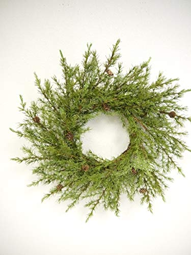 Pine Christmas Wreaths With Mini Pinecones BUYERS CHOICE 20 Inch Undecorated Wreath 0