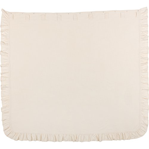 Piper Classics Ashley Natural Beige Ruffled Shower Curtain 72x72 Farmhouse Style Bathroom Dcor 0 2