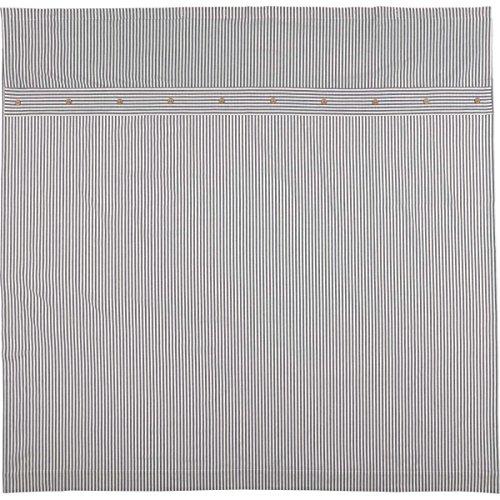 Piper Classics Farmhouse Ticking Stripe Shower Curtain 72x72 Blue 0 0