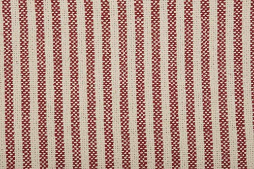 Piper Classics Homespun Red Ticking Shower Curtain 72 X 72 Natural Barn Red Farmhouse Primitive Bathroom Dcor 0 3