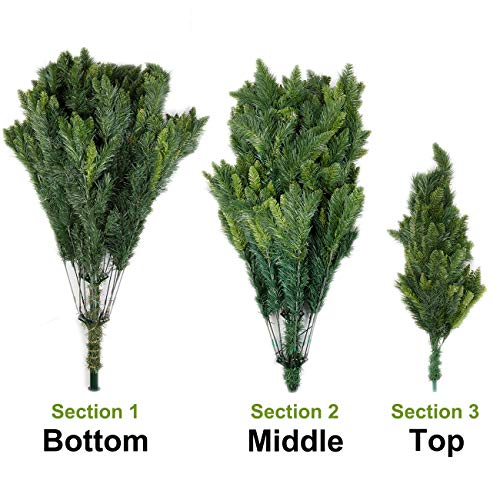 Potalay Artificial Christmas Tree Unlit 45675 Feet Premium Hinged Spruce Full Tree5 FT 0 0