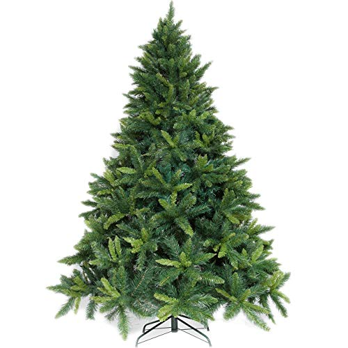 Potalay Artificial Christmas Tree Unlit 45675 Feet Premium Hinged Spruce Full Tree5 FT 0