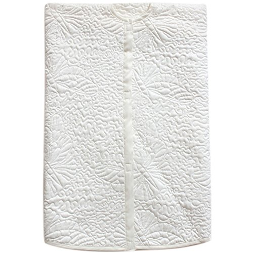 Powereva 48 Christmas Tree Skirt White100 Cotton Quilted Embroidered Butterfly Pattern DecorativeChristmas Holiday Three Layer Construction NO002 0 5