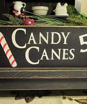 Primitive DecorCandy Canes Five Cents Primitive Wood Sign Candy Cane Sign Christmas Sign Rustic Christmas SignFarmhouse Christmas 0 300x360