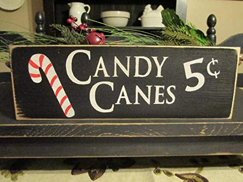 Primitive DecorCandy Canes Five Cents Primitive Wood Sign Candy Cane Sign Christmas Sign Rustic Christmas SignFarmhouse Christmas 0