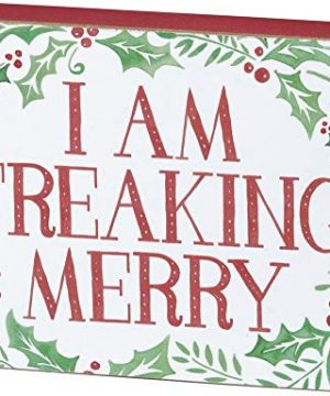 Primitives By Kathy Holiday Block Sign I Am Freaking Merry 0 300x360