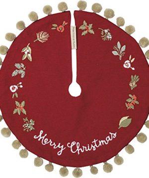 Primitives By Kathy Stitch Art Tree Skirt Merry Christmas 0 300x360