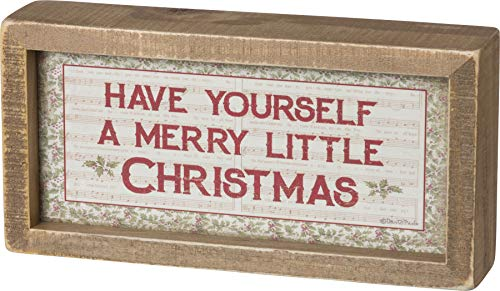 Primitives By Kathy Vintage Rustic Christmas Sign Have Yourself A Merry Little Christmas 8 X 4 Inch Decor 0