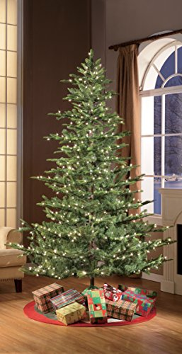 Puleo International 75 Foot Pre Lit Aspen Fir Artificial Christmas Tree With 700 UL Listed Clear Lights Green 0 1