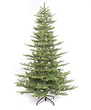 Puleo International 75 Foot Pre Lit Aspen Fir Artificial Christmas Tree With 700 UL Listed Clear Lights Green 0 300x360