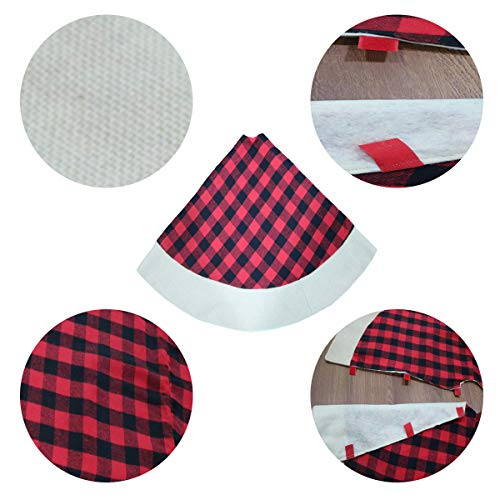 QTDLXFA Christmas Tree Skirt Mat 48 Inch For Christmas Holiday Party Decoration 0 0