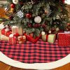 QTDLXFA Christmas Tree Skirt Mat 48 Inch For Christmas Holiday Party Decoration 0 100x100