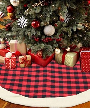 QTDLXFA Christmas Tree Skirt Mat 48 Inch For Christmas Holiday Party Decoration 0 300x360