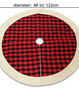 QTDLXFA Christmas Tree Skirt Mat 48 Inch For Christmas Holiday Party Decoration 0 4 300x360