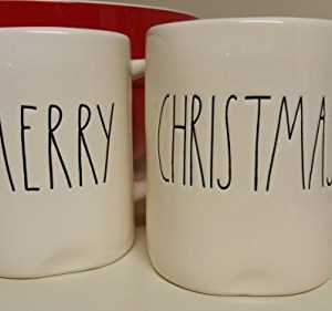RAE DUNN ARTISAN COLLECTION 2 MUG SET MERRY CHRISTMAS 0 300x281