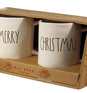 RAE DUNN ARTISAN COLLECTION CHRISTMAS AND MERRY MUGS SET 0 300x321