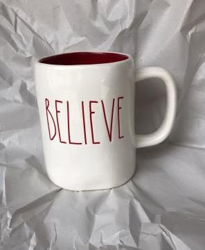 RAE DUNN BELIEVE Mug Red Christmas 0 296x360