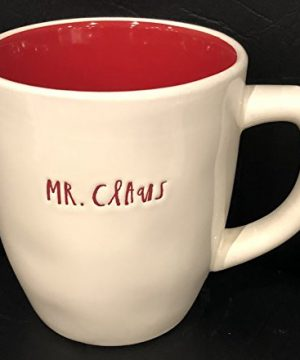 Rae Dunn Artisan Collection By Magenta Christmas Pottery Mug 4 Diameter X 5 Deep MR CLAUS Red Inside Dishwasher Safe 0 300x360