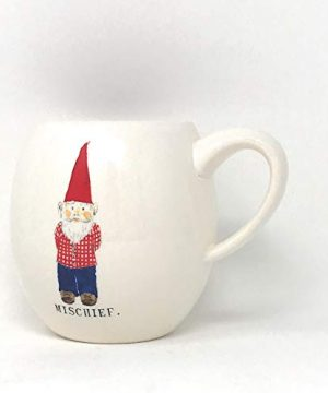 Rae Dunn By Magenta Gnome ChristmasMischief Coffee Mug With Red Interior 0 0 300x360