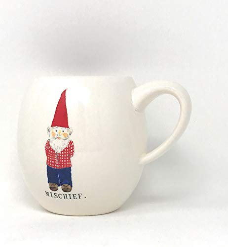 Rae Dunn By Magenta Gnome ChristmasMischief Coffee Mug With Red Interior 0 0