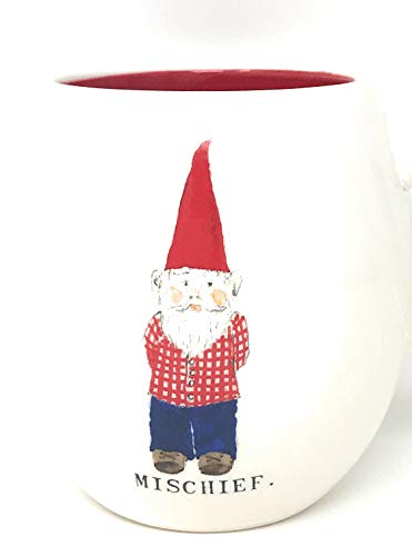 Rae Dunn By Magenta Gnome ChristmasMischief Coffee Mug With Red Interior 0