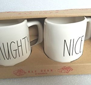 Rae Dunn By Magenta Naughty Nice Mug Cup Christmas Set 0 300x281