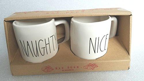 Rae Dunn By Magenta Naughty Nice Mug Cup Christmas Set 0