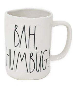 Rae Dunn Magenta Ceramic Coffee Mug Bah Humbug 0 300x360