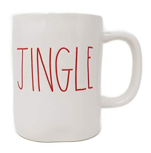 Rae Dunn Magenta Ceramic Coffee Mug Jingle CreamRed 0 0