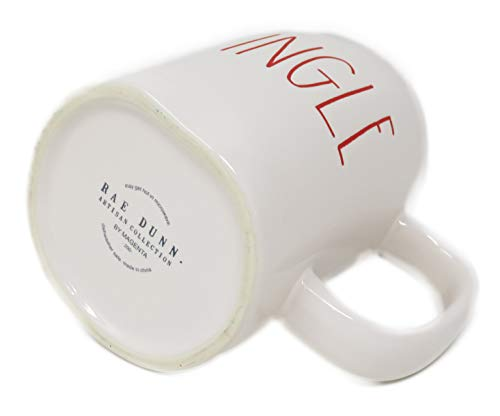 Rae Dunn Magenta Ceramic Coffee Mug Jingle CreamRed 0 1