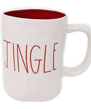 Rae Dunn Magenta Ceramic Coffee Mug Jingle CreamRed 0 300x360