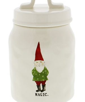 Rae Dunn Magenta MAGIC Elf Christmas Canister 0 300x360