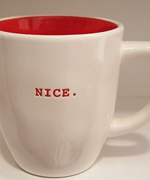 Rae Dunn NICE Christmas Ceramic Mug Red 0 300x360