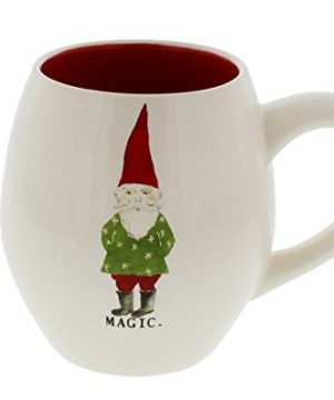 Rae Dunn By Magenta MAGIC Gnome Christmas Mug Red Interior 0 300x360